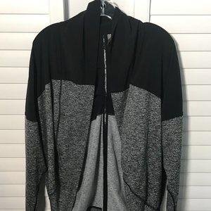 Zella athleisure black/gray cocoon wrap, XS-S
